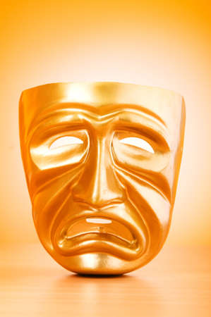 Theatre mask against gradient background Stock Photo - 9542126