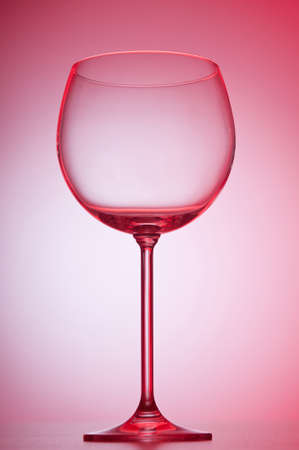 Wine glasses against gradient background Stock Photo - 9542167