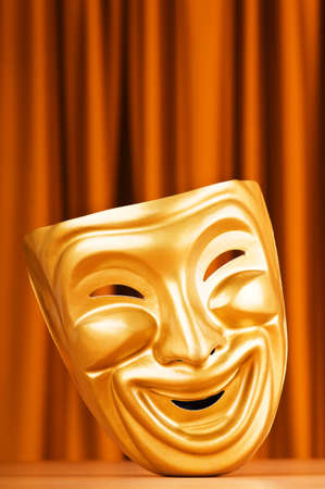 Theatre mask against the background Stock Photo - 9541443