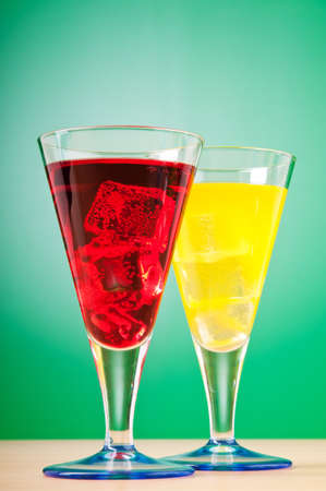Colourful cocktail in glasses photo