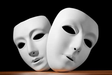 white mask: Masks with theatre concept Stock Photo
