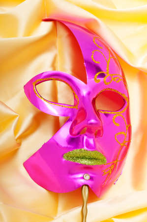 comedy and tragedy: Masks with theatre concept Stock Photo
