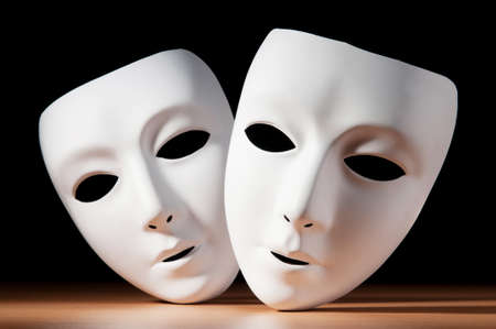 drama masks: Masks with theatre concept Stock Photo