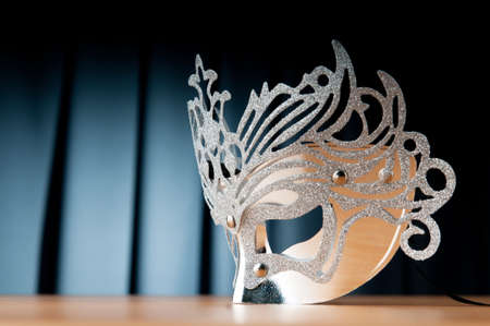 curtain theatre: Masks with theatre concept Stock Photo