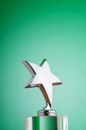 Star award against gradient background Stock Photo - 9548117
