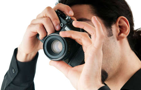 Photographer with the digital camera Stock Photo - 9548100
