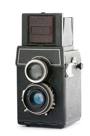 Vintage film camera isolated on white Stock Photo - 9548098