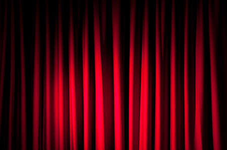 curtain theatre: Brightly lit curtains for your background Stock Photo