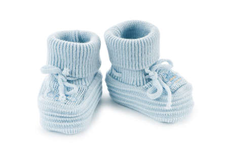Woven baby shoes isolated on white background Stock Photo - 9547927