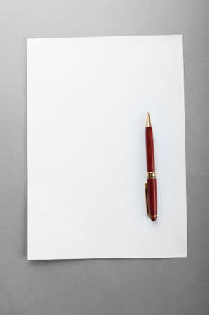 Pen on the sheet of paper Stock Photo - 9548116
