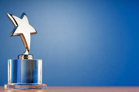 Star award against gradient background photo