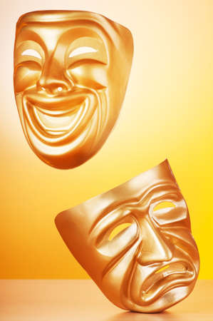 Masks with the theatre concept Stock Photo - 9546655
