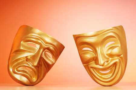 Masks with the theatre concept Stock Photo - 9546717
