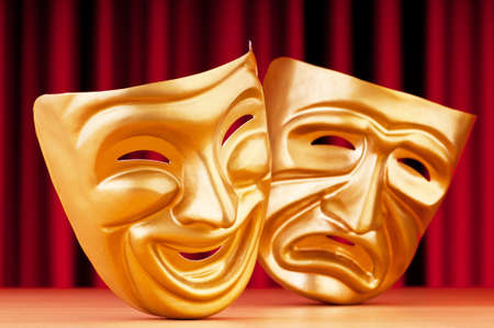 Masks with the theatre concept Stock Photo - 9546544