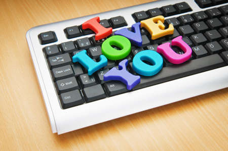 love you: I love you words on the keyboard