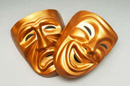 cara triste: M�scaras con el concepto de teatro