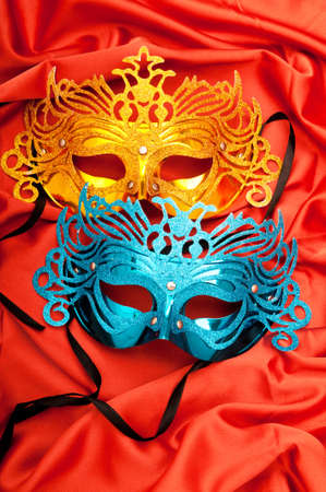 theatre masks: Masks with theatre concept Stock Photo
