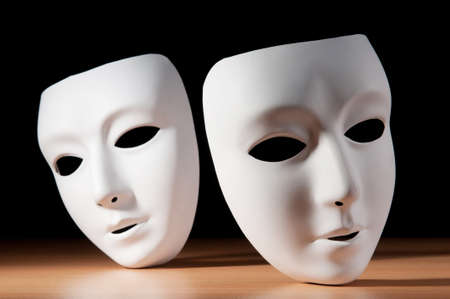 theatrical: Masks with theatre concept Stock Photo