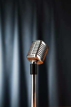 Audio microphone against the background Stock Photo - 9548150