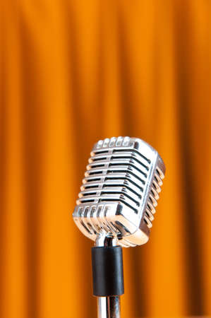 Audio microphone against the background Stock Photo - 9548151