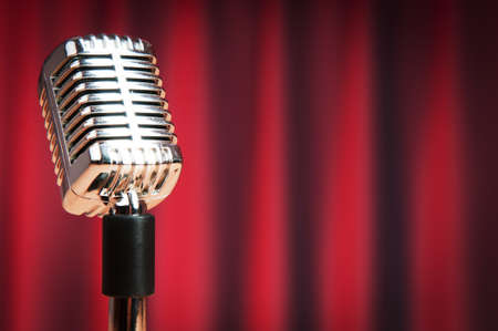 Audio microphone against the background Stock Photo - 9548102