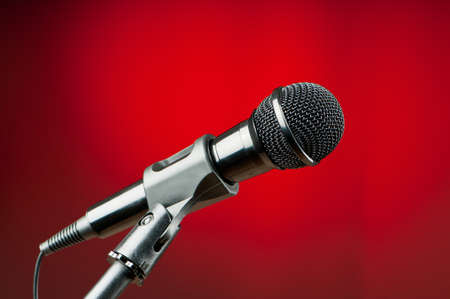 Audio microphone against the background Stock Photo - 9548120