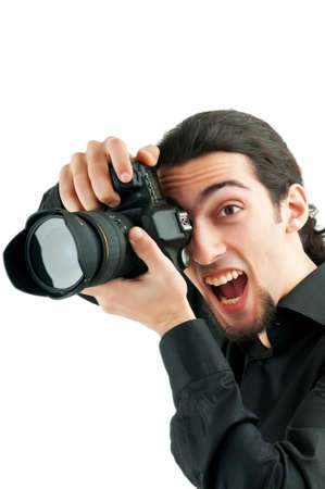 Photographer with the digital camera photo