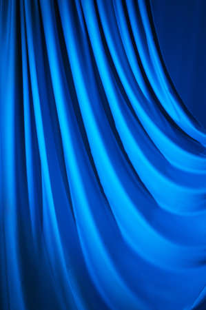 broadway stage: Brightly lit curtains for your background Stock Photo