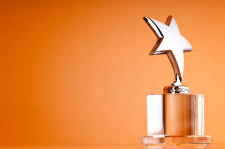 Star award against gradient background Stock Photo - 9593841