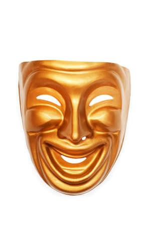 lachendes gesicht: Masken mit dem Theater-Konzept Lizenzfreie Bilder