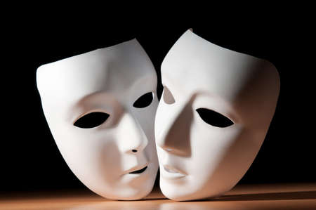 acting: Masks with theatre concept Stock Photo