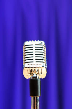 Audio microphone against the background Stock Photo - 9593842