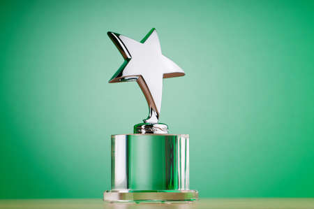 Star award against gradient background Stock Photo - 9716021