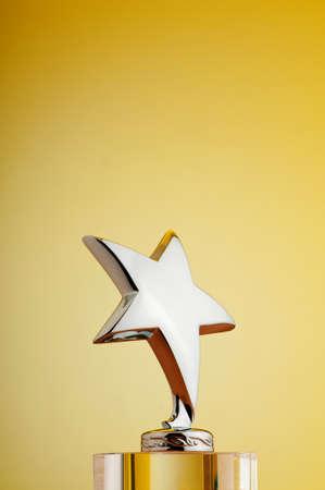 awards ceremony: Star award against gradient background
