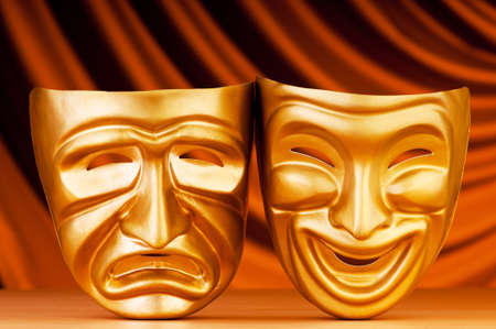 Masks with the theatre concept Stock Photo - 9715888