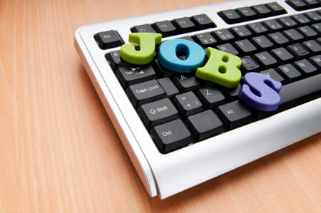 Employment concept with words on keyboard Stock Photo - 9715710