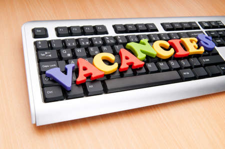 Employment concept with words on keyboard Stock Photo - 9716041