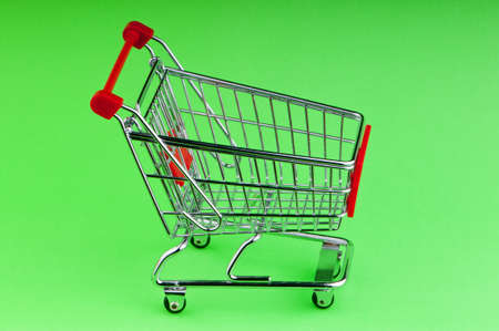 Shopping cart against the background Stock Photo - 9716027