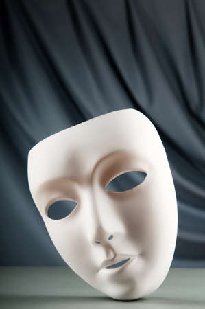 canvass: Masks with theatre concept Stock Photo
