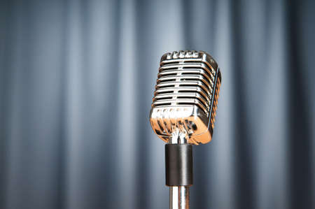 Audio microphone against the background Stock Photo - 9715708