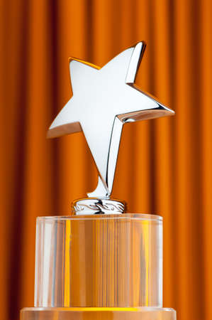 Star award against curtain background Stock Photo - 9715830