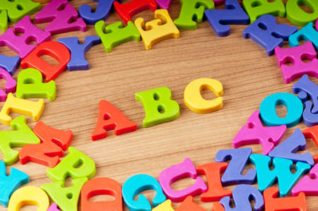 Early education concept with letters Stock Photo