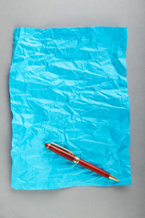 Pen on the sheet of paper Stock Photo - 9752816