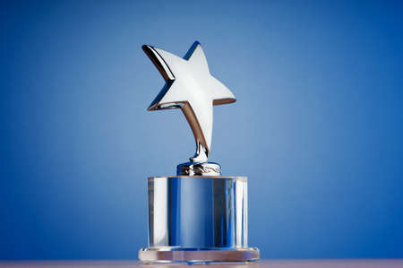 Star award against gradient background Stock Photo - 9752874