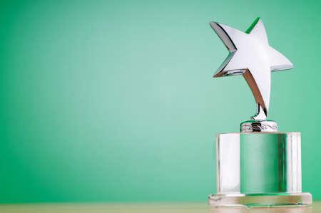 premios: Premio Star contra fondo degradado