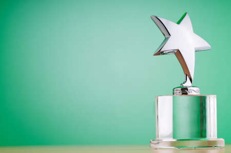 Star award against gradient background Stock Photo - 9752927
