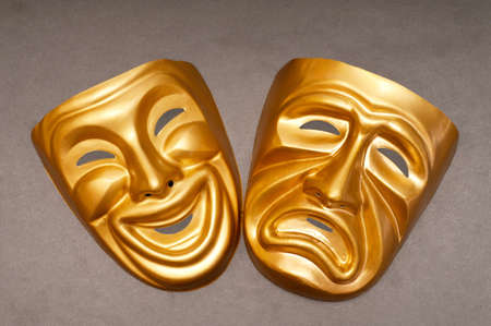 Masks with the theatre concept photo