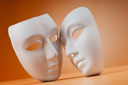 love expression: Masks with theatre concept Stock Photo