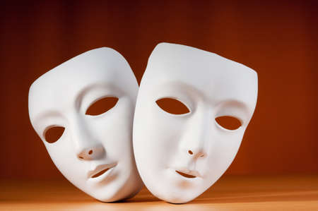 Masks with theatre concept Stock Photo - 9752913
