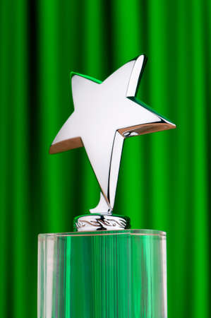 Star award against curtain background photo